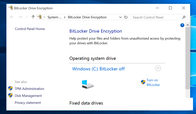 bitlocker drive encrypting